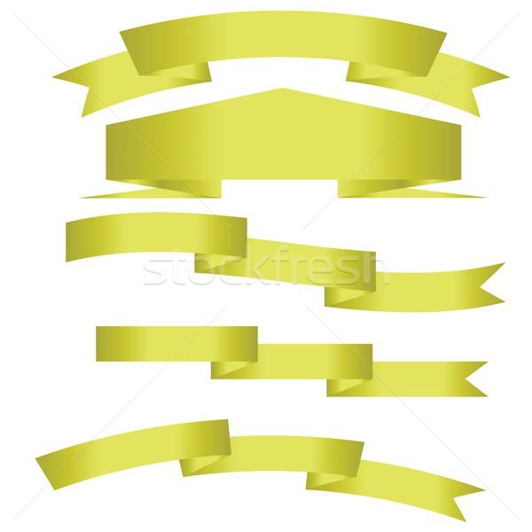 gold ribbon Stock photo © Valeo5