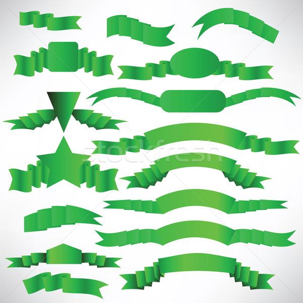 Ingesteld groene ontwerp decoratie collectie Stockfoto © Valeo5