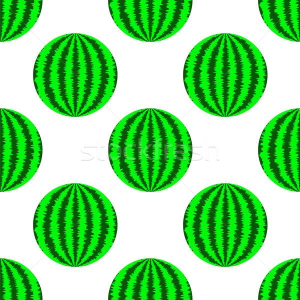 Fresco maduro verde melancia branco natureza Foto stock © Valeo5