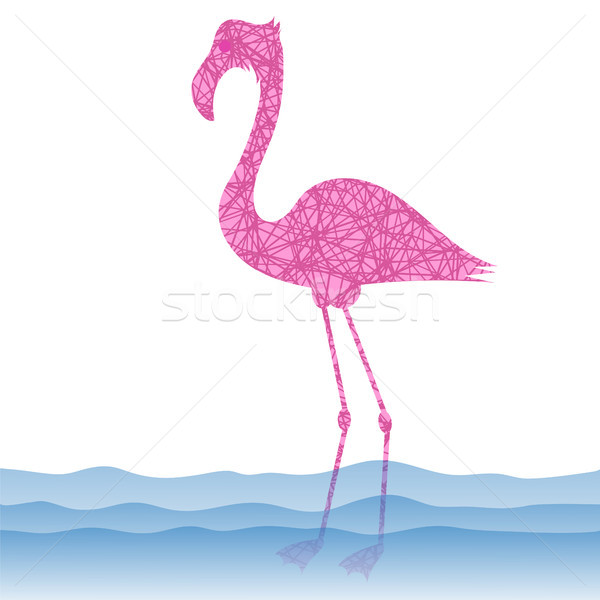 Pink Flamingo Bird Stock photo © Valeo5