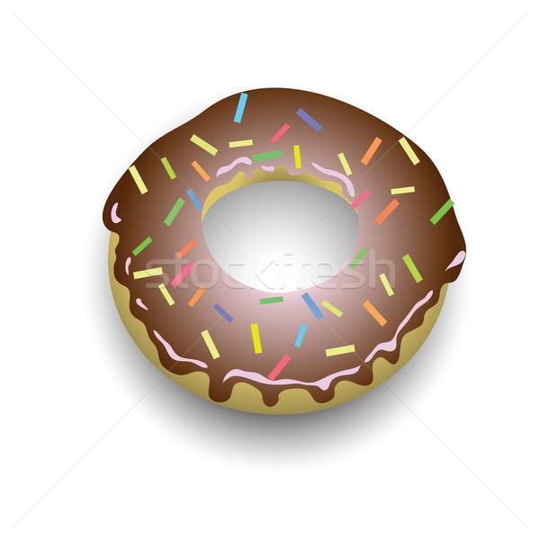 Donut kleurrijk illustratie chocolade kunst ring Stockfoto © Valeo5