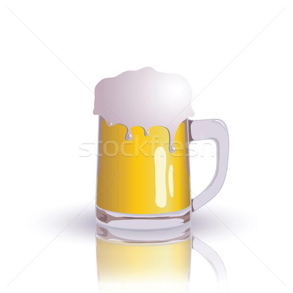 пива красочный иллюстрация стекла искусства золото Сток-фото © Valeo5