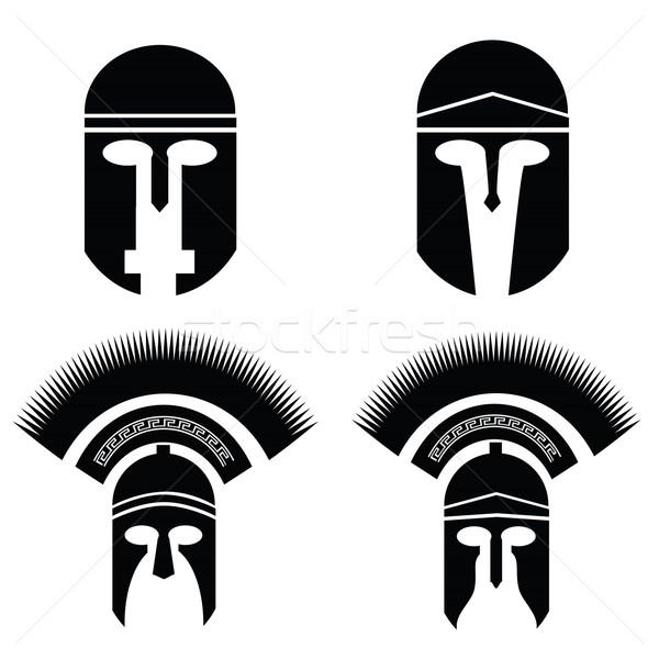 silhouettes of helmet Stock photo © Valeo5