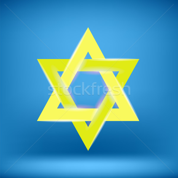 Yellow Star of David Stock photo © Valeo5