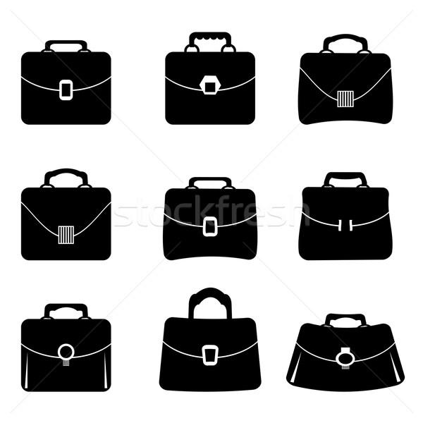 Briefcase Icons Stock photo © Valeo5