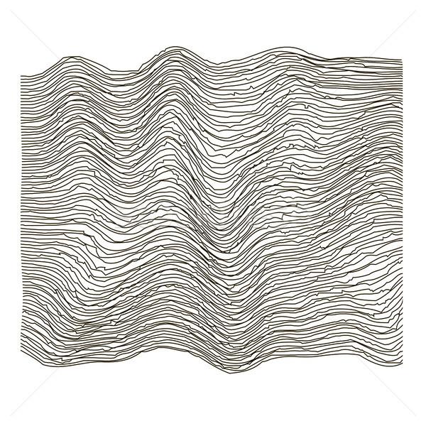 Гранж линия шаблон волна полоса Сток-фото © Valeo5