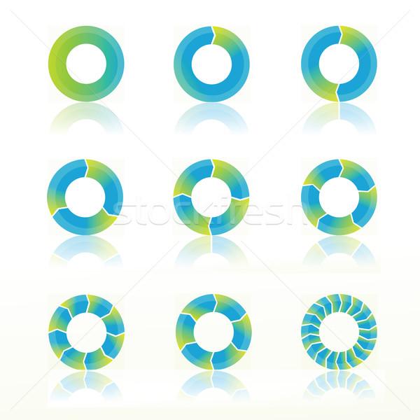 Diyagramları renkli örnek diyagram beyaz arka plan model Stok fotoğraf © Valeo5