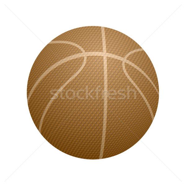 баскетбол оранжевый икона изолированный белый спорт Сток-фото © Valeo5