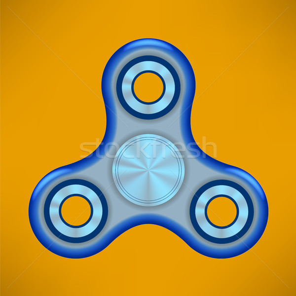 Fidget Finger Spinner Modern Stress Relieving Toy Stock photo © Valeo5