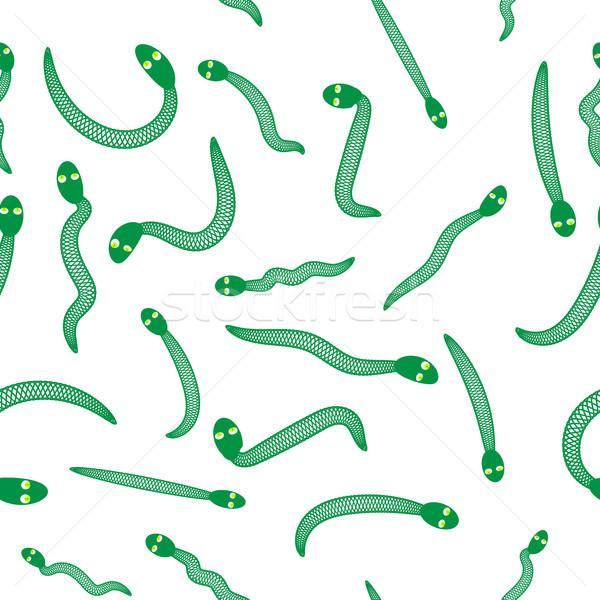 Verde serpente sem costura animal padrão atacar Foto stock © Valeo5