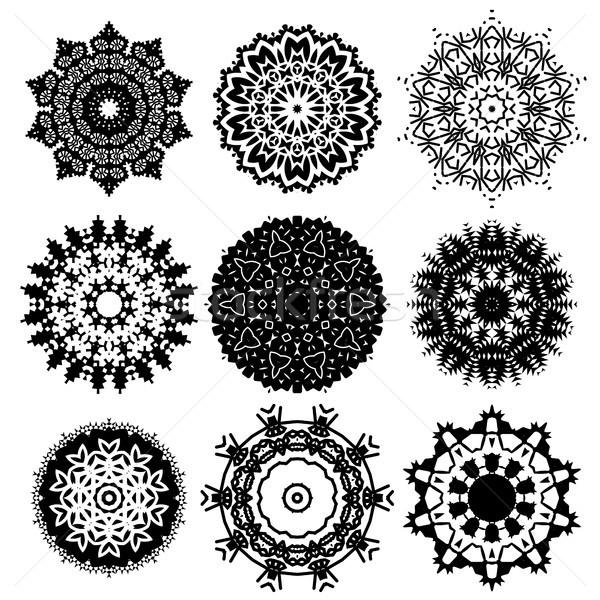 Meetkundig ornament lijn patroon Stockfoto © Valeo5