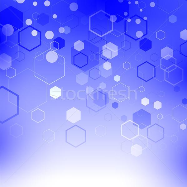 синий технологий частица структуры генетический химического Сток-фото © Valeo5