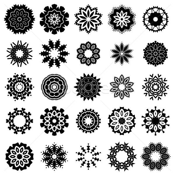 декоративный декоративный орнамент линия шаблон текстуры Сток-фото © Valeo5
