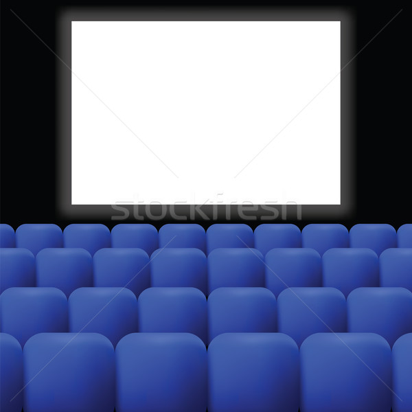 cinema with blue curtain Stock photo © Valeo5
