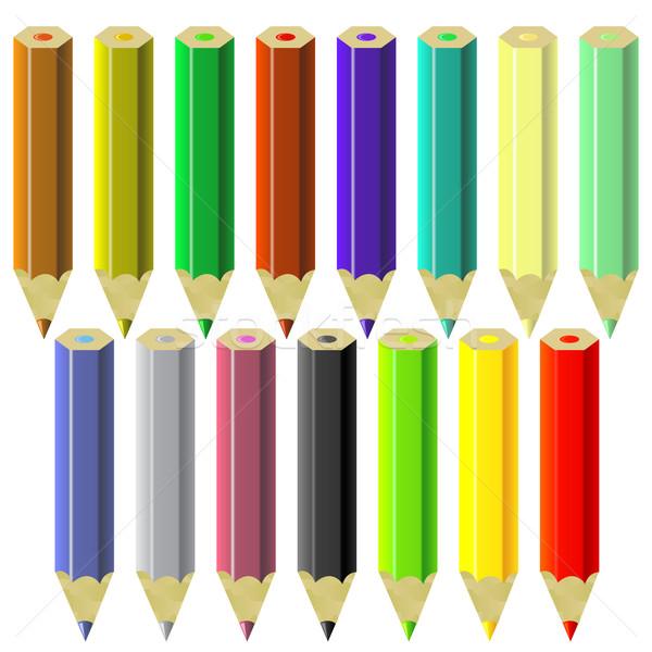 Set of Colorful Pencils Stock photo © Valeo5
