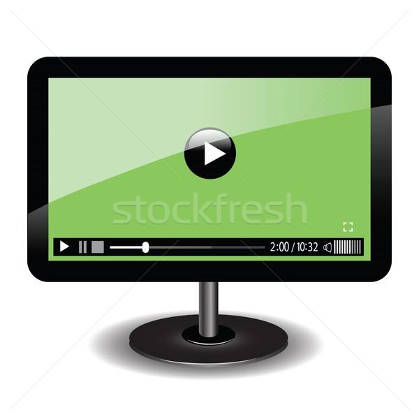 Monitor teia vídeo jogador colorido ilustração Foto stock © Valeo5