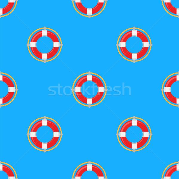 Icon patroon Blauw achtergrond veiligheid Stockfoto © Valeo5