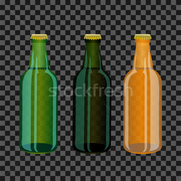 Gekleurd glas flessen grijs partij Stockfoto © Valeo5