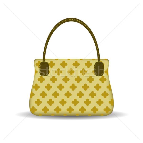 сумочка изолированный белый стороны моде дизайна Сток-фото © Valeo5