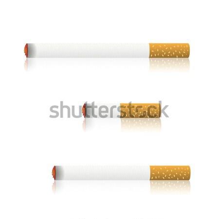 сжигание сигареты красочный иллюстрация знак курение Сток-фото © Valeo5