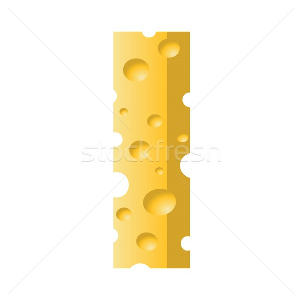 Stock photo: cheese letter I