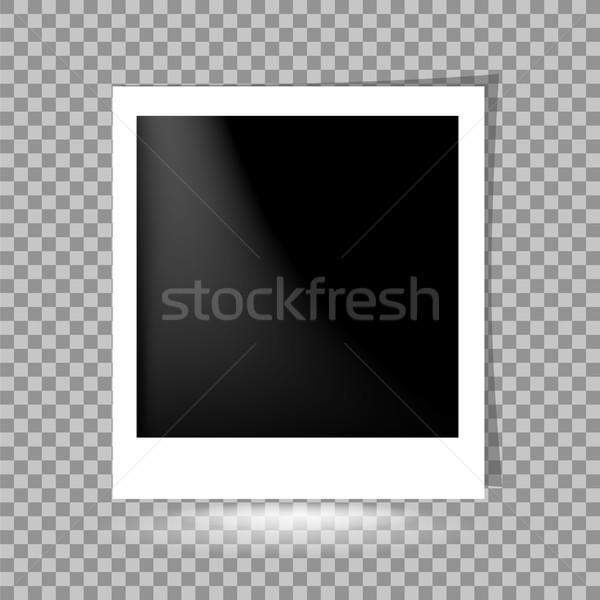 шаблон фото дизайна черный ретро Сток-фото © Valeo5