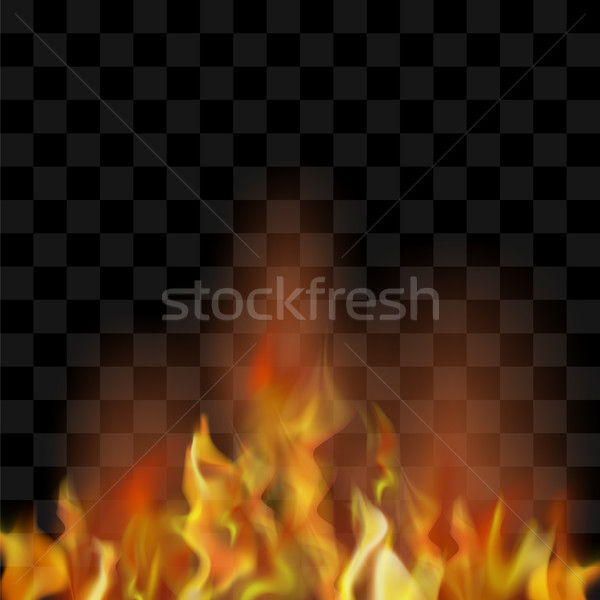 Foto stock: Quente · vermelho · ardente · fogo · chama · voador