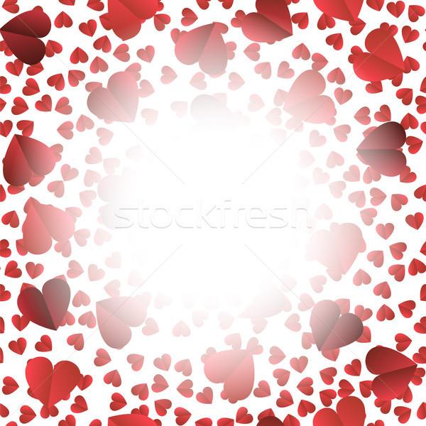 Romantic Red Heart Seamless Pattern Stock photo © Valeo5