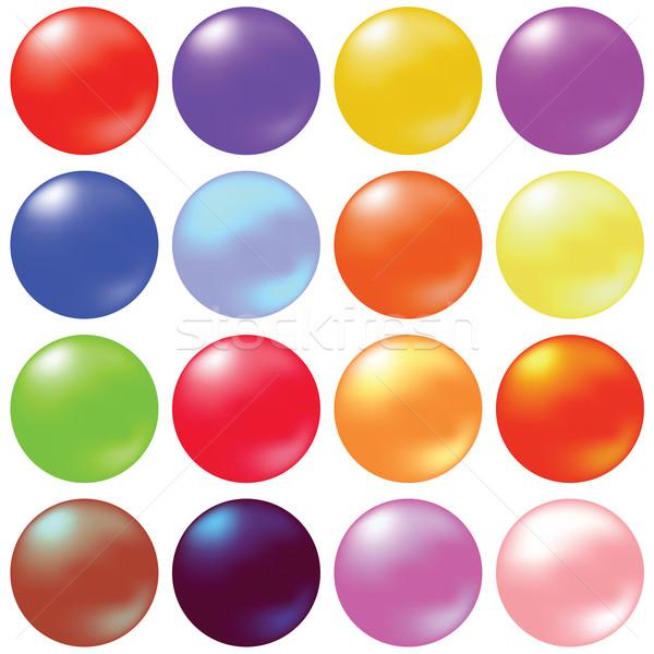 Bollen kleurrijk illustratie ingesteld witte Stockfoto © Valeo5