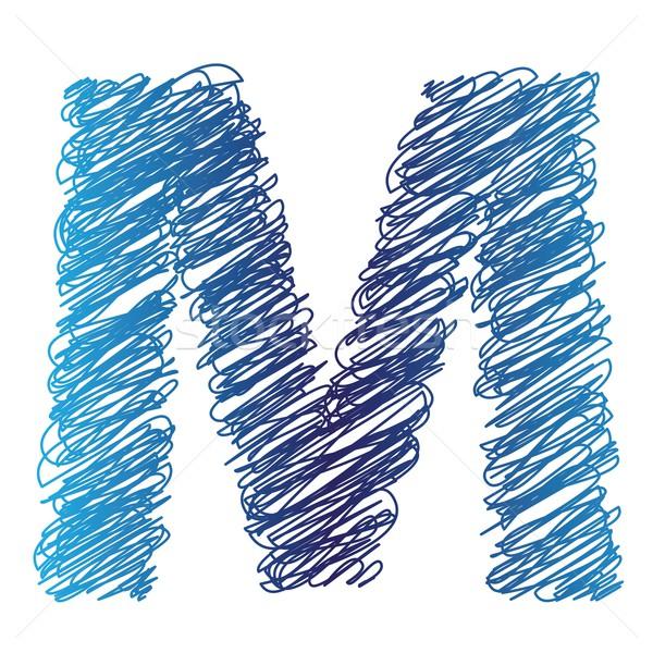 буква М красочный иллюстрация белый текстуры пер Сток-фото © Valeo5