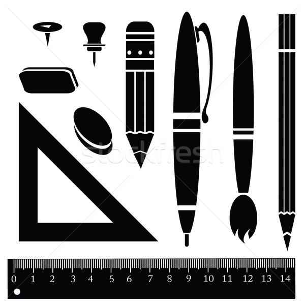 служба иллюстрация школы карандашом фон Сток-фото © Valeo5