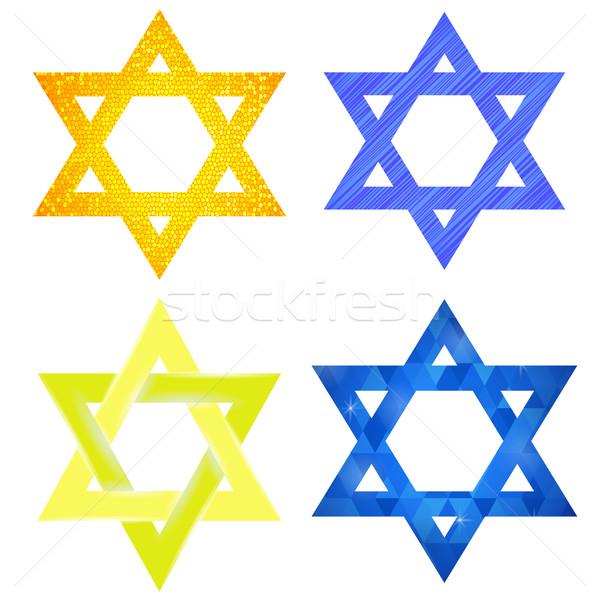 Set of Yellow and Blue Mosaic  David Stars Stock photo © Valeo5