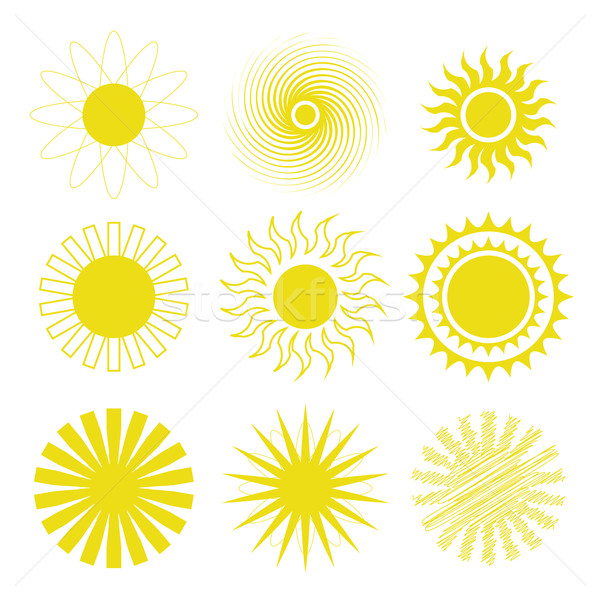 sun icons set Stock photo © Valeo5