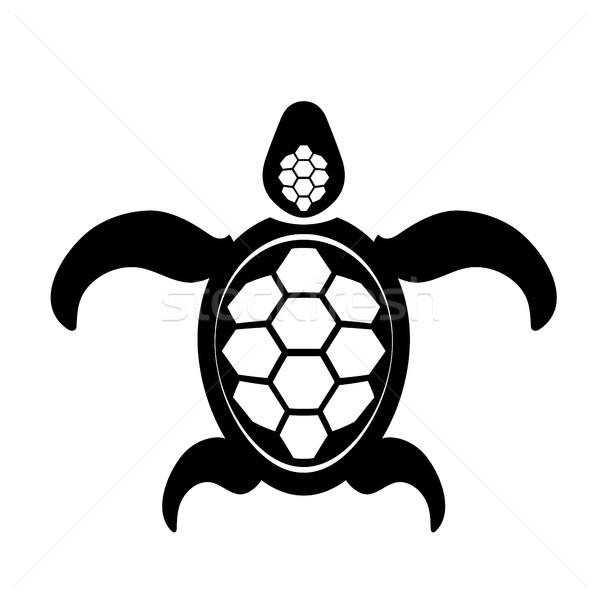 Oceaan schildpad icon zee grafische eenvoudige Stockfoto © Valeo5