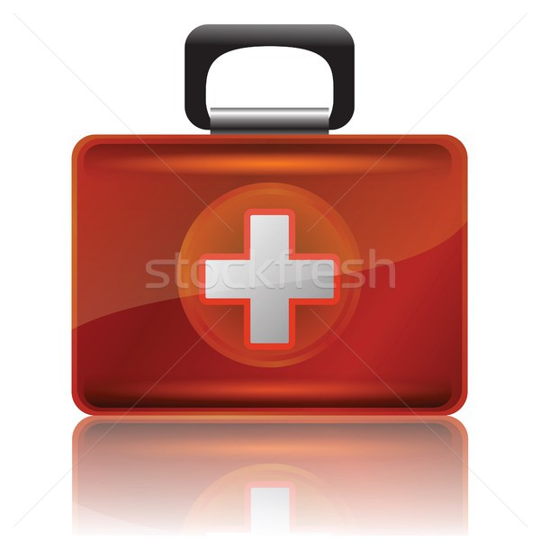 Rood eerste hulp geval kleurrijk illustratie achtergrond Stockfoto © Valeo5