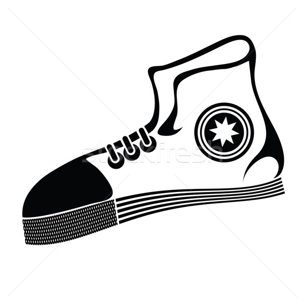 Lopen schoen illustratie witte sport fitness Stockfoto © Valeo5