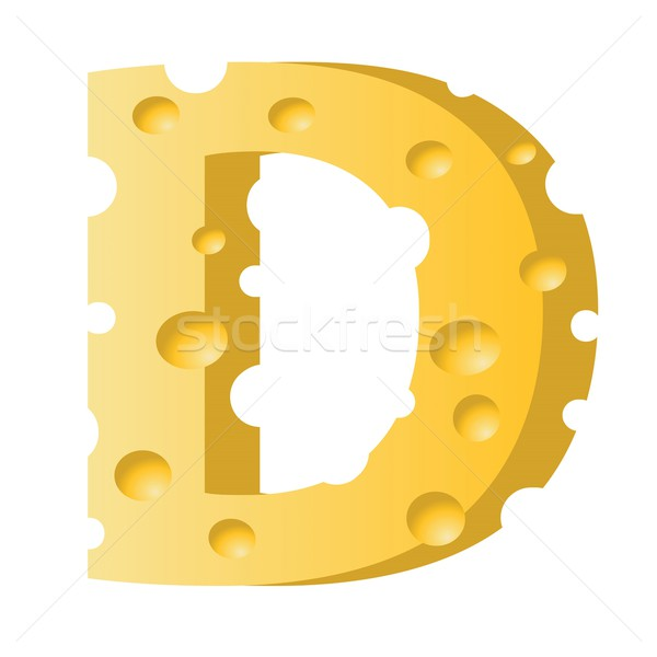Stock photo: cheese letter D