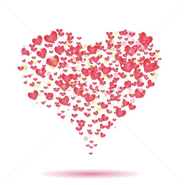 сердцах красочный иллюстрация любви дизайна фон Сток-фото © Valeo5