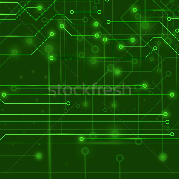 современных компьютер технологий зеленый плате шаблон Сток-фото © Valeo5