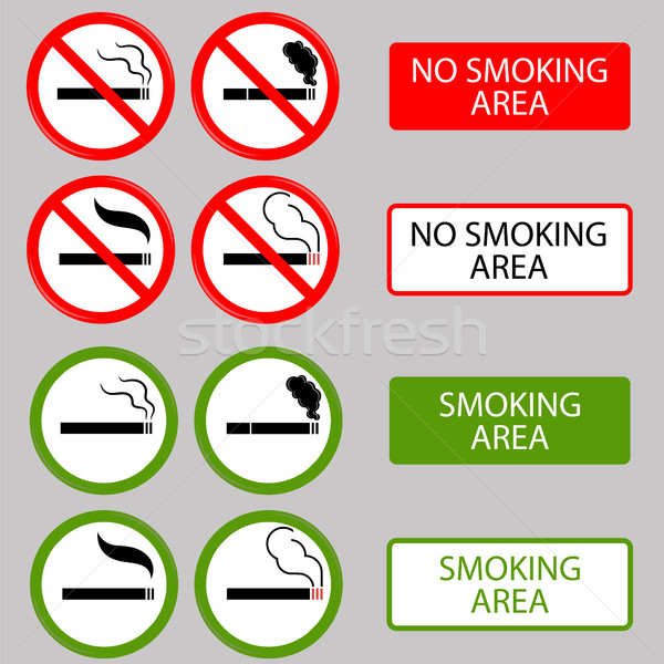 No Smoking, Cigarette, Smoke Prohibited Symbols Stock photo © Valeo5