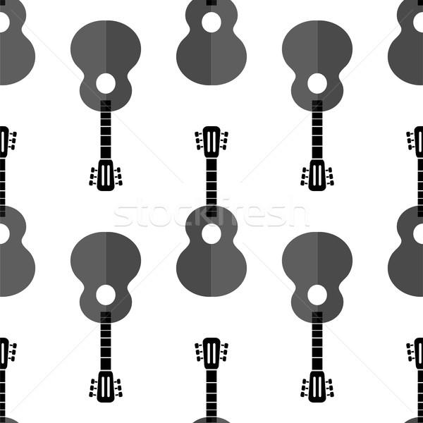 Guitar Silhouette Seamless Background Stock photo © Valeo5
