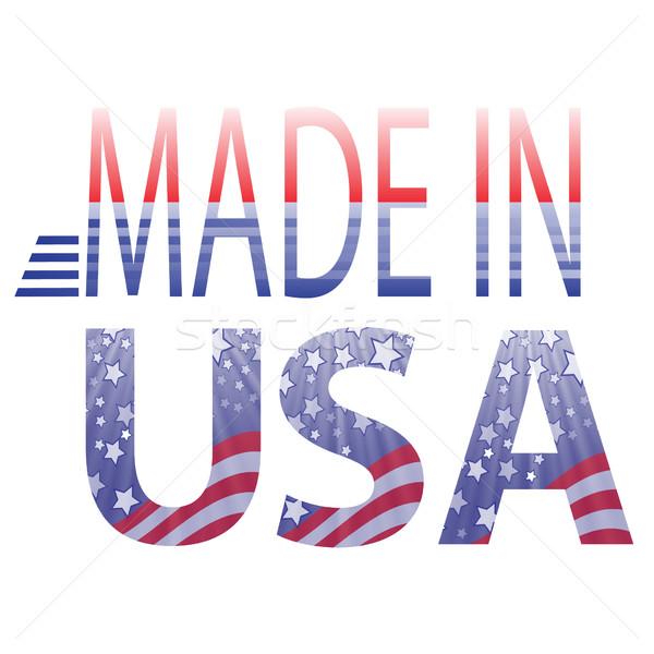 США текста красочный иллюстрация белый текстуры Сток-фото © Valeo5