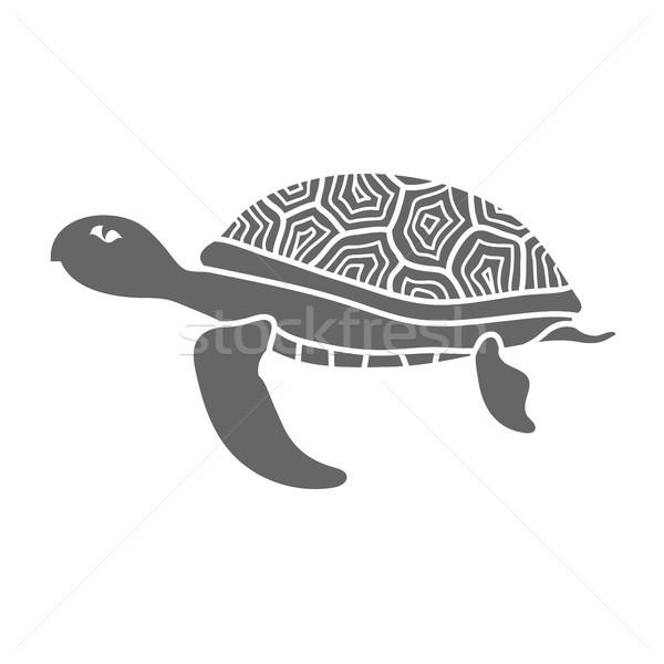 Ocean tartaruga icona isolato bianco mare Foto d'archivio © Valeo5