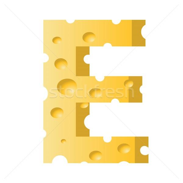 cheese letter E Stock photo © Valeo5