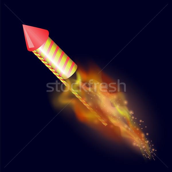 Burning Petard with Fire Flame Stock photo © Valeo5