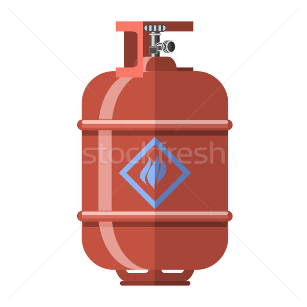 Red Gas Tank Icon Stock photo © Valeo5