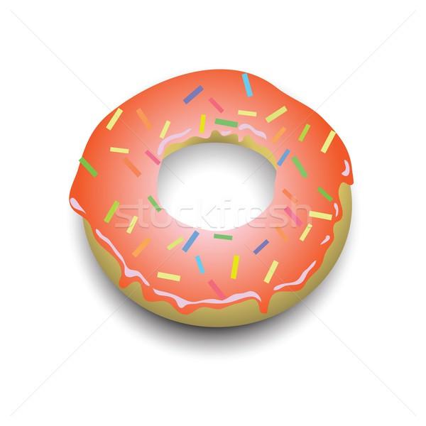 пончик красочный иллюстрация шоколадом искусства кольца Сток-фото © Valeo5
