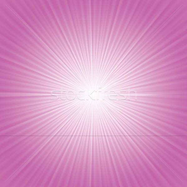 Rózsaszín sugarak színes illusztráció absztrakt fény Stock fotó © Valeo5