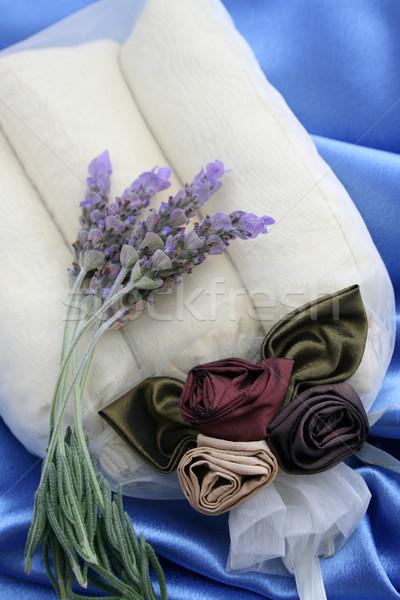 Duftenden Zimmer dekoriert Geschenk spa Lavendel Stock foto © vanessavr