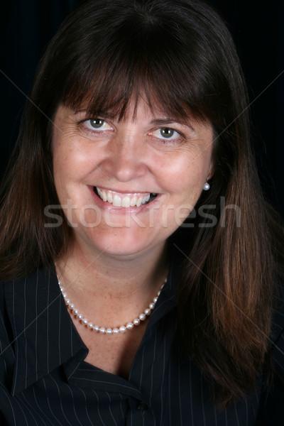Maturo femminile bella bruna executive Foto d'archivio © vanessavr